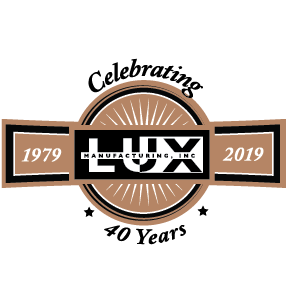 Lux Mfg 40th Anniversary Logo